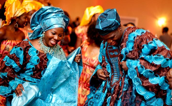 african-wedding-blue-dress