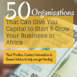 50 organizations african business capital